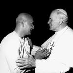 Sri Chinmoy z papieżem Janem Pawłem II