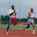 Sri Chinmoy i Carl Lewis